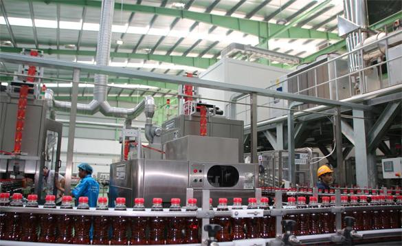nhà máy xử lý nước giải khát